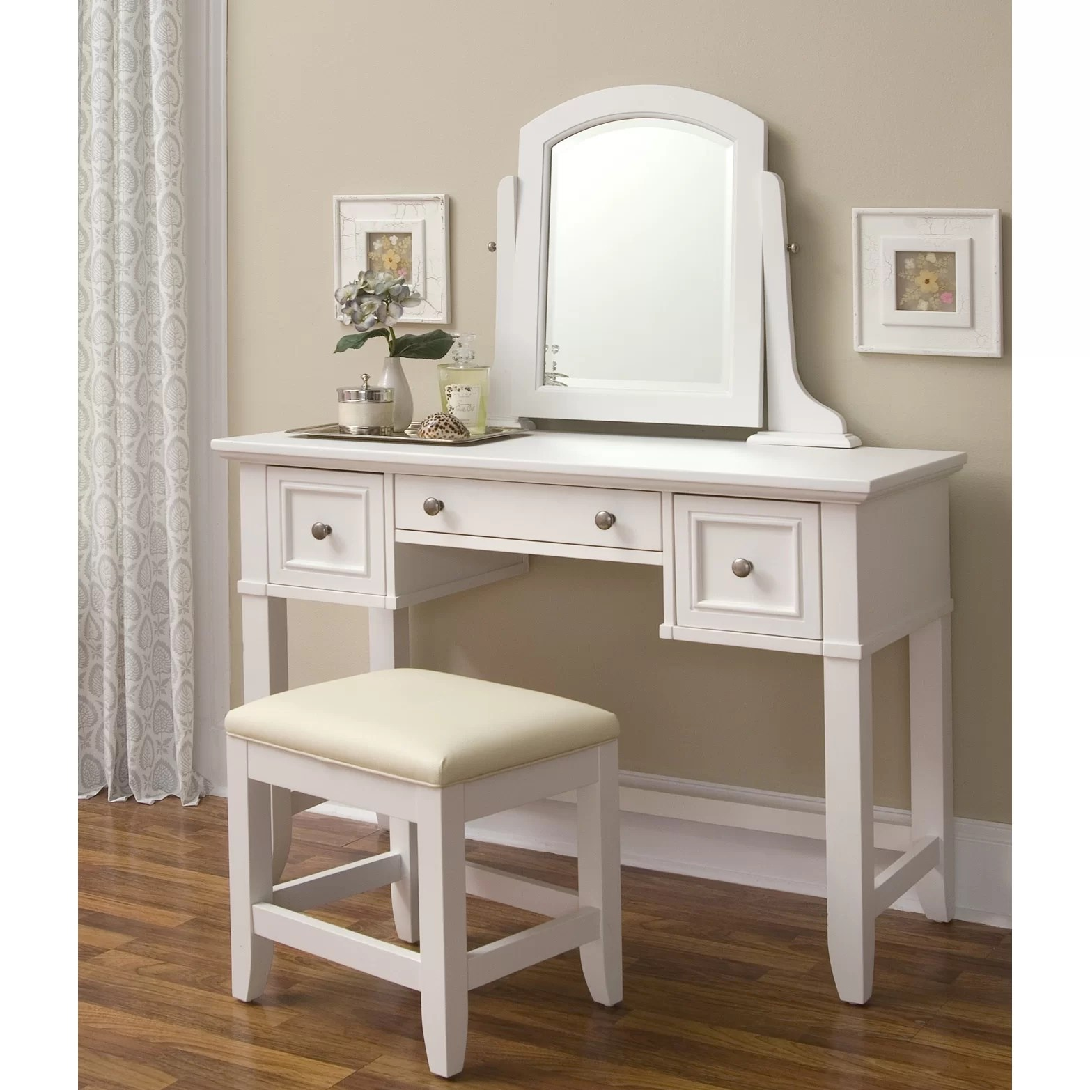 Vanity And Stool Sets Home Styles Naples Vanity And Stool Set And Reviews Wayfair