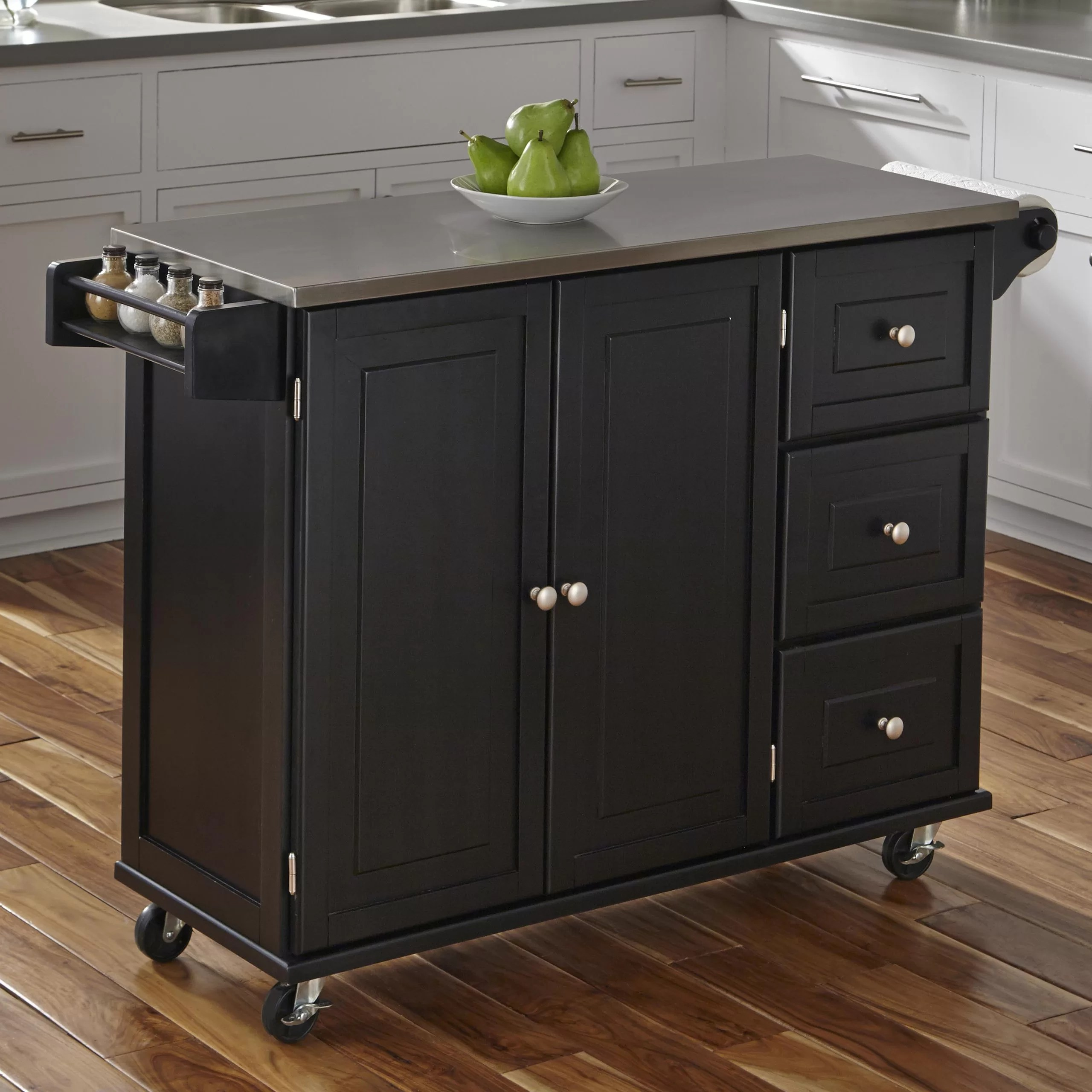 home styles liberty kitchen island stainless steel top reviews furniture cambridge stainless steel top kitchen island white