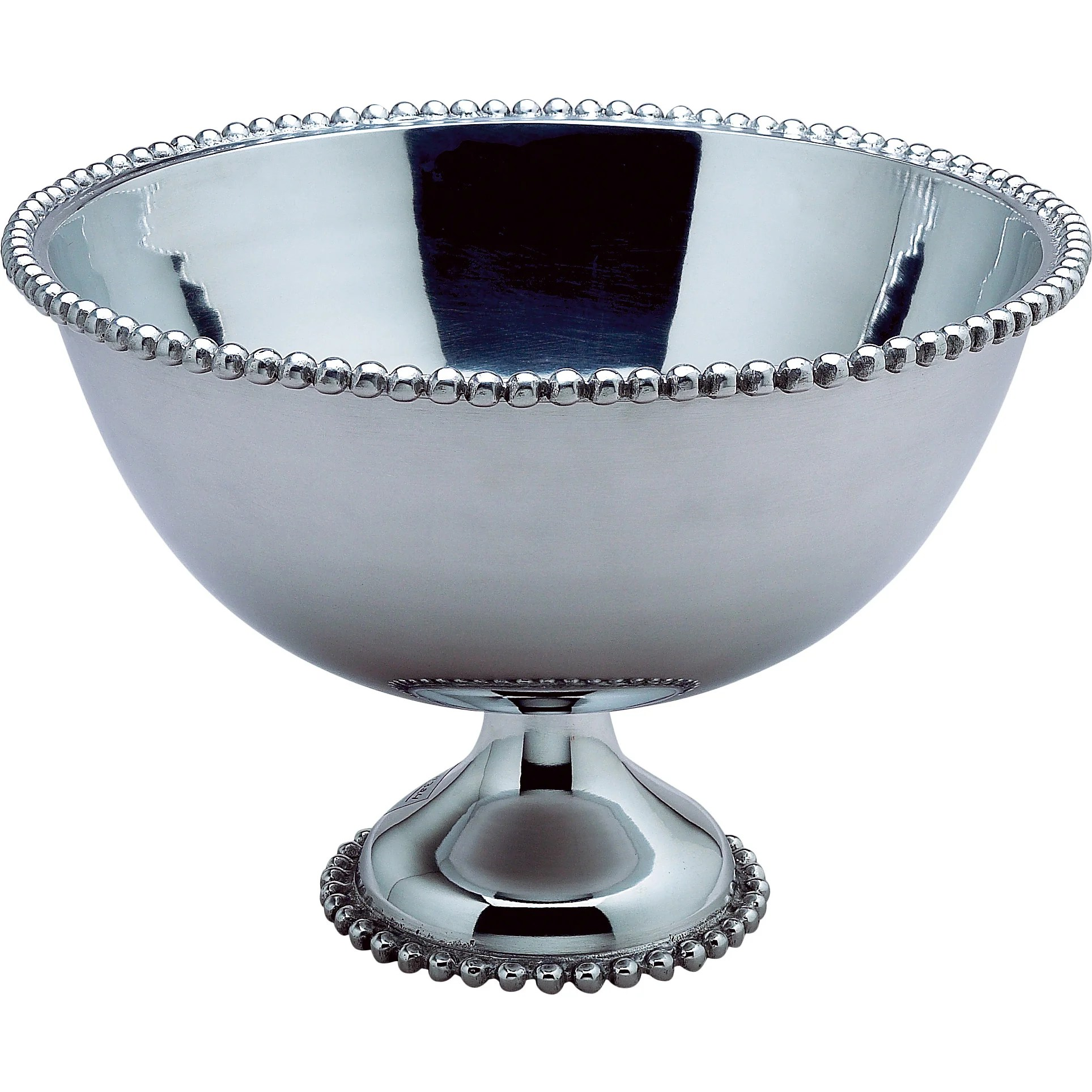 Chrome Decorative Bowl Kindwer Beaded Aluminum Punch Bowl Wayfair Ca