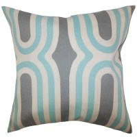 The Pillow Collection Persis Geometric Throw Pillow ...
