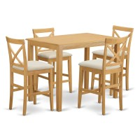 "East West Yarmouth 36"" 5 Piece Pub Table Set | Wayfair"