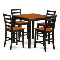 Wooden Importers 5 Piece Counter Height Pub Table Set ...