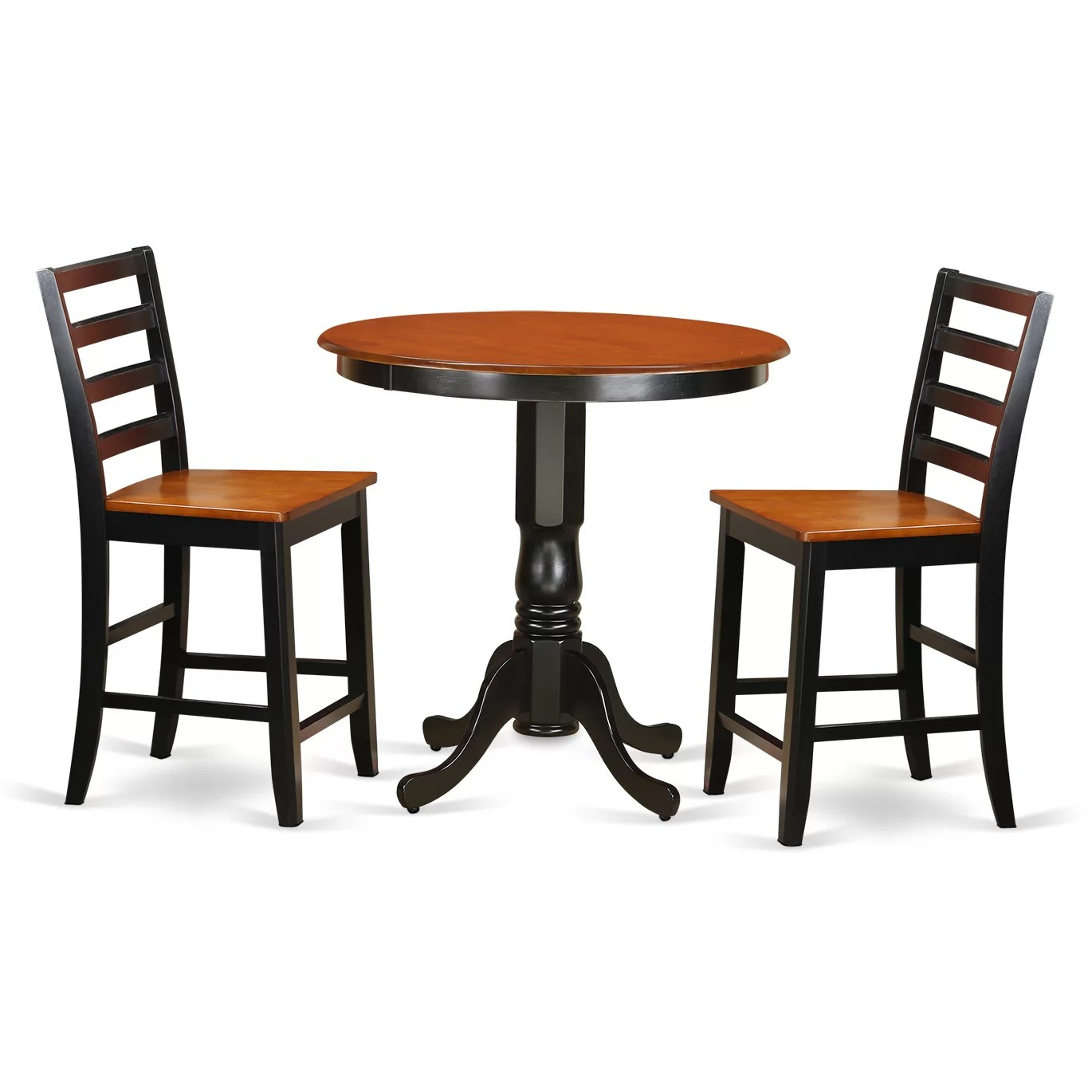 Bar Table Set Wooden Importers Jackson 3 Piece Counter Height Pub Table