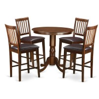 Wooden Importers Jackson 5 Piece Counter Height Pub Table ...