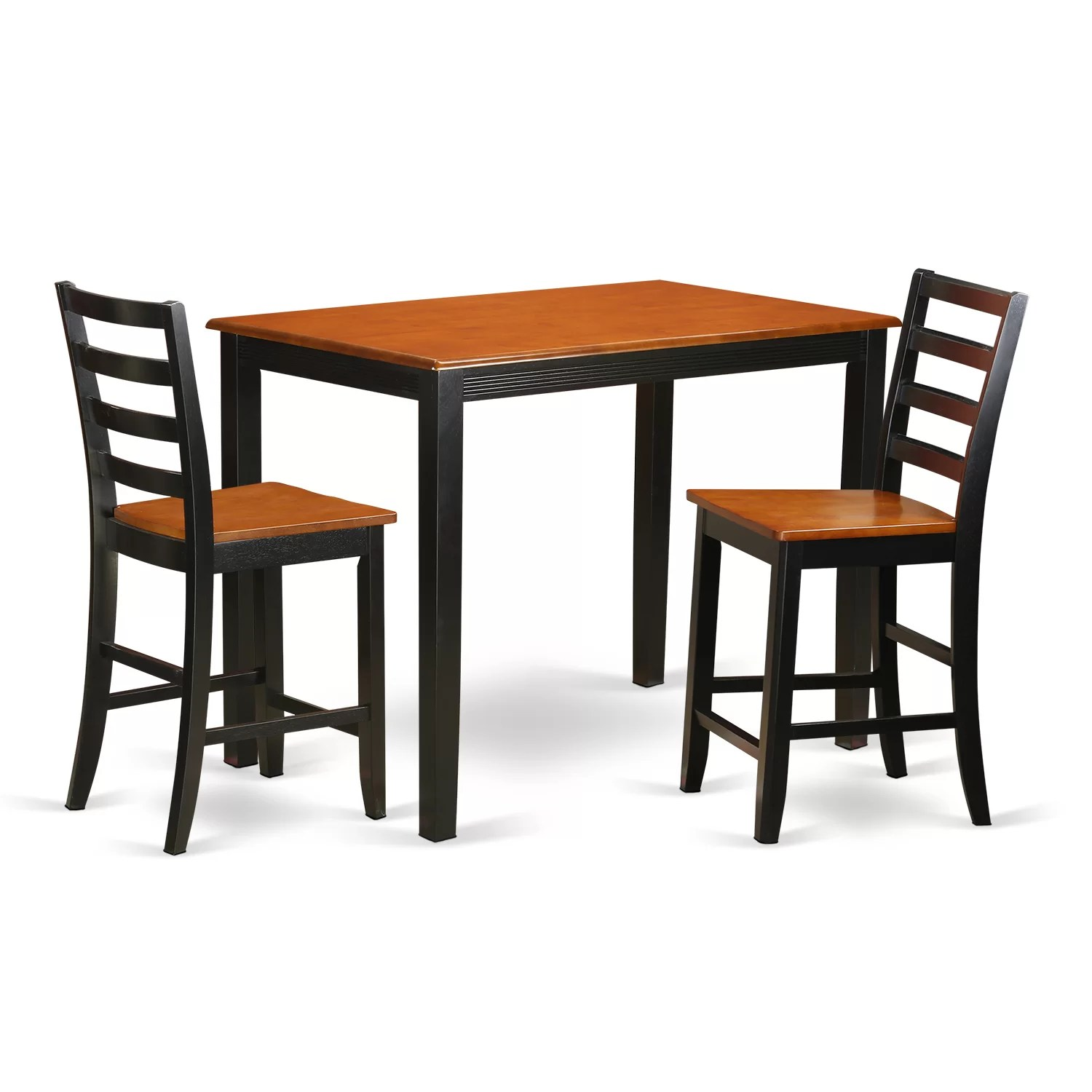 Bar Table Set Wooden Importers Yarmouth 3 Piece Counter Height Pub Table