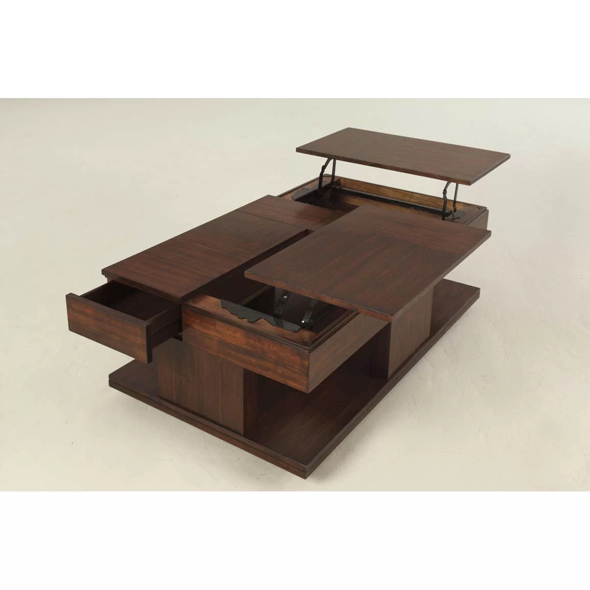 Top Lift Coffee Table Darby Home Co Dail Coffee Table With Double Lift Top