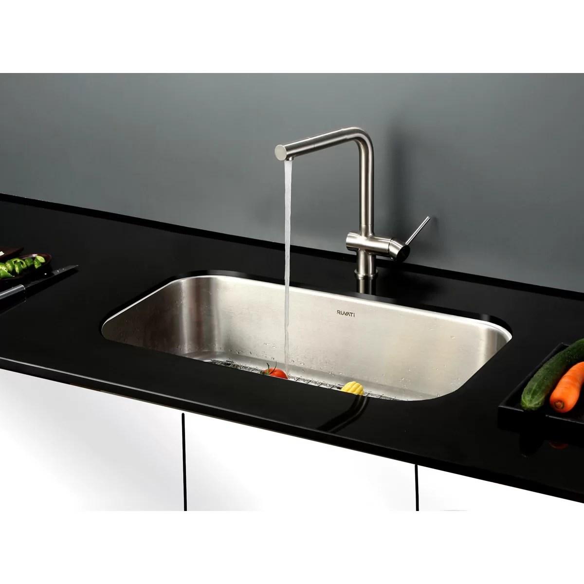 Ruvati Parmi 315quot X 1825quot Undermount Single Bowl Kitchen