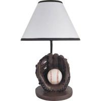 "Milton Green Star Youth Baseball 15.75"" Table Lamp ..."