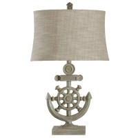 "Style Craft Nautical 29"" H Table Lamp with Drum Shade ..."