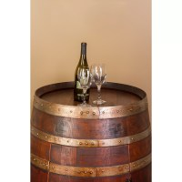 Napa East Collection Wine Barrel Bar with Bar Cabinet ...