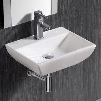 Elanti Wall Mounted Rectangular Compact Sink & Reviews ...