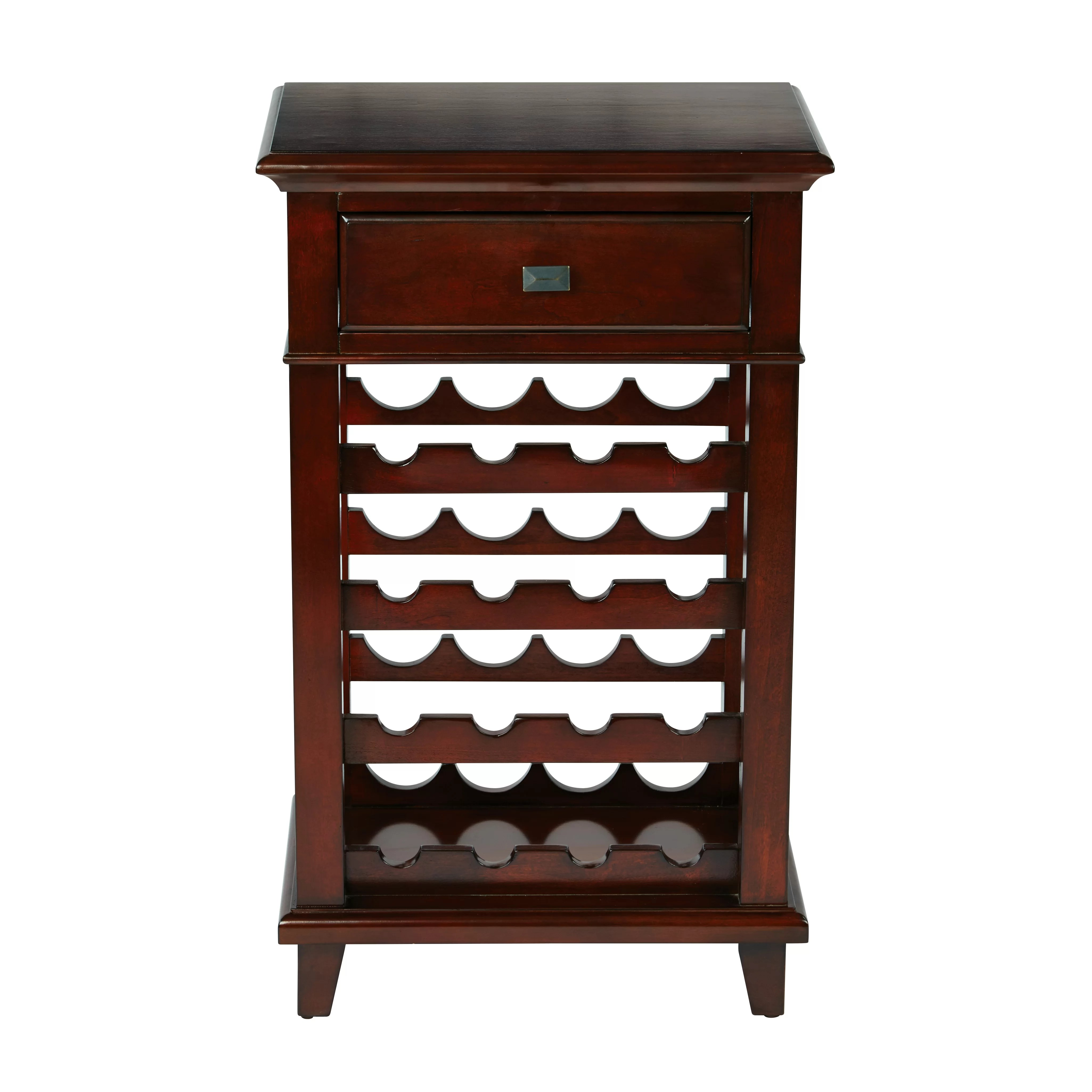In Floor Wine Storage Osp Designs 16 Bottle Floor Wine Rack And Reviews Wayfair