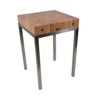 John Boos Metropolitan Designer Prep Table with Butcher ...