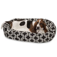 Majestic Pet Links Sherpa Bagel Bolster Pet Bed & Reviews ...