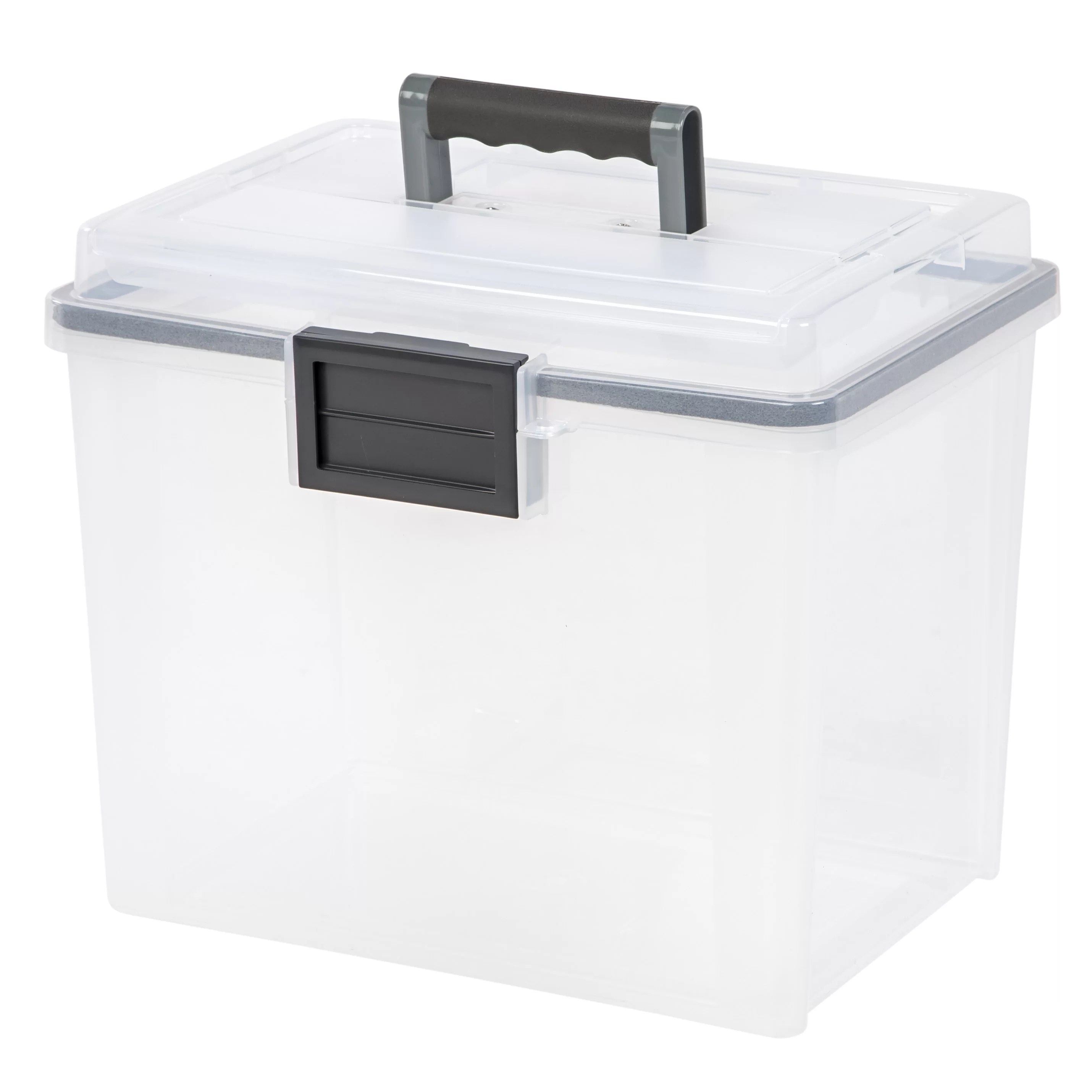 File Box Iris Letter Size Portable Weathertight File Box And Reviews