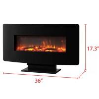 Muskoka Wall Mount Electric Fireplace & Reviews | Wayfair