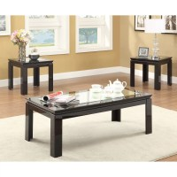 Hokku Designs Nayom Mirrored 3 Piece Coffee Table Set ...