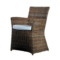 NovaSolo Wickerworks Dining Armchair with Cushion ...
