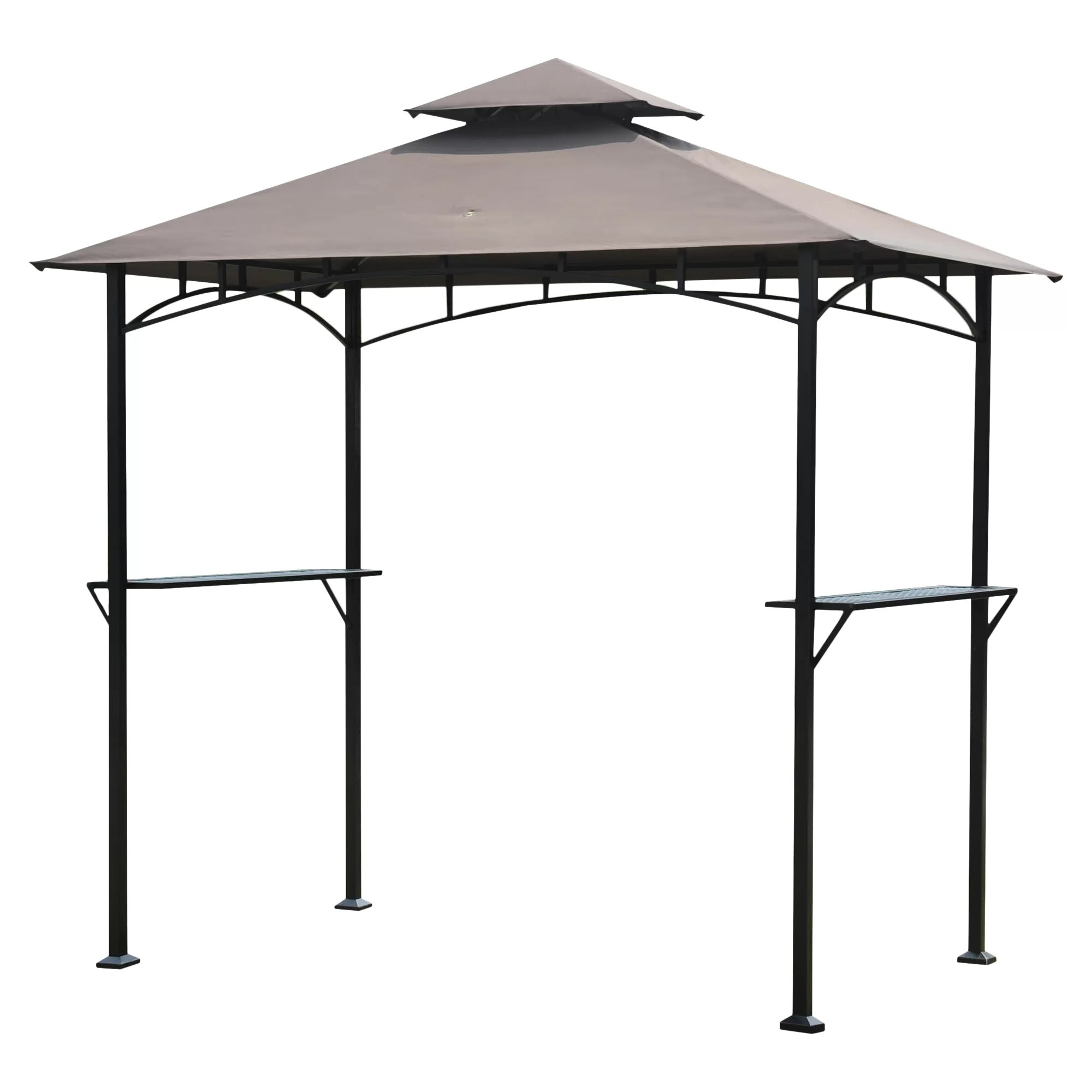 Grille Foot Sunjoy Henley 8 Ft W X 5 Ft D Steel Gazebo And Reviews