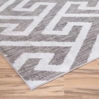 Zipcode Design Hector Gray/White Area Rug & Reviews | Wayfair