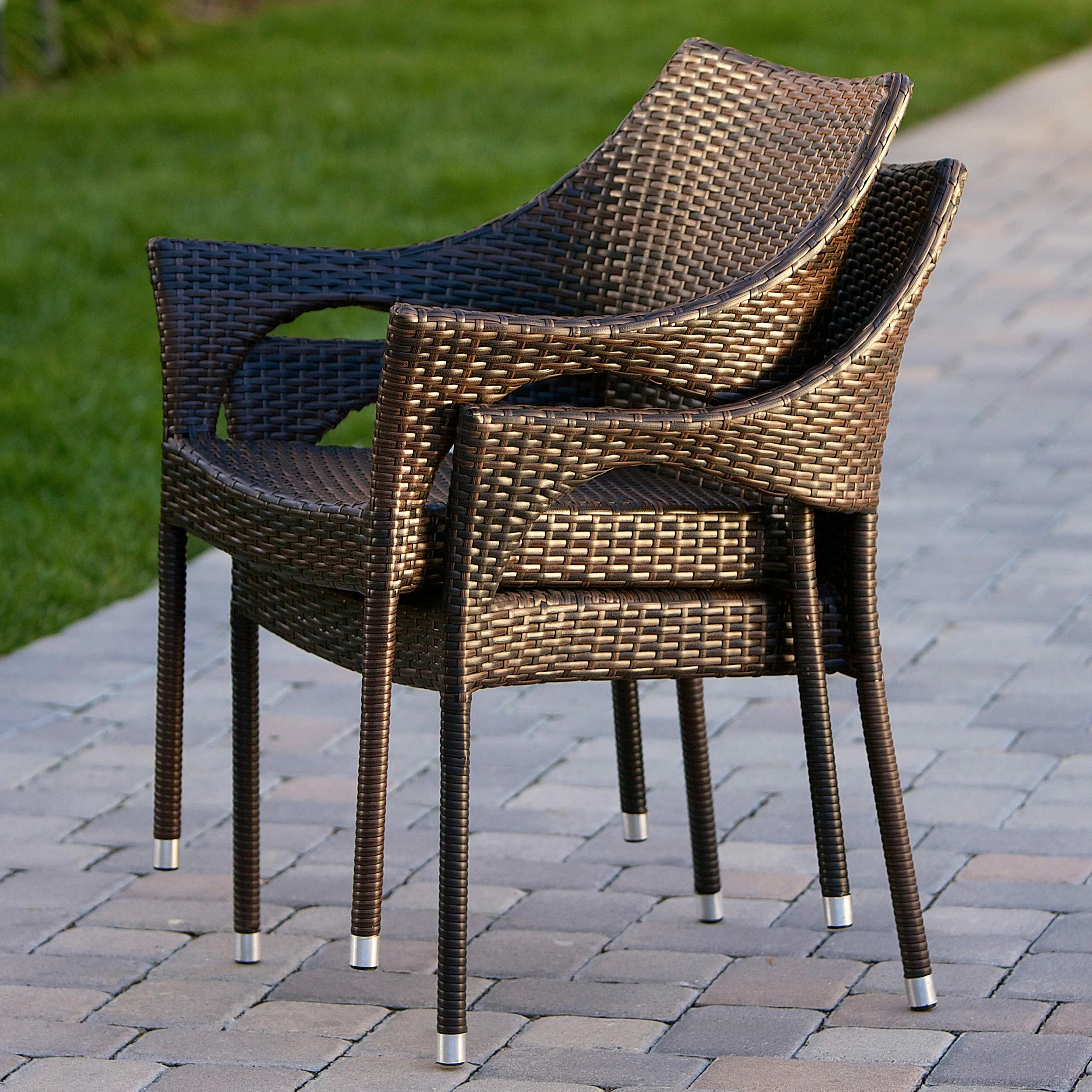 Home Loft Concepts Norm Outdoor Wicker Arm Chair Reviews