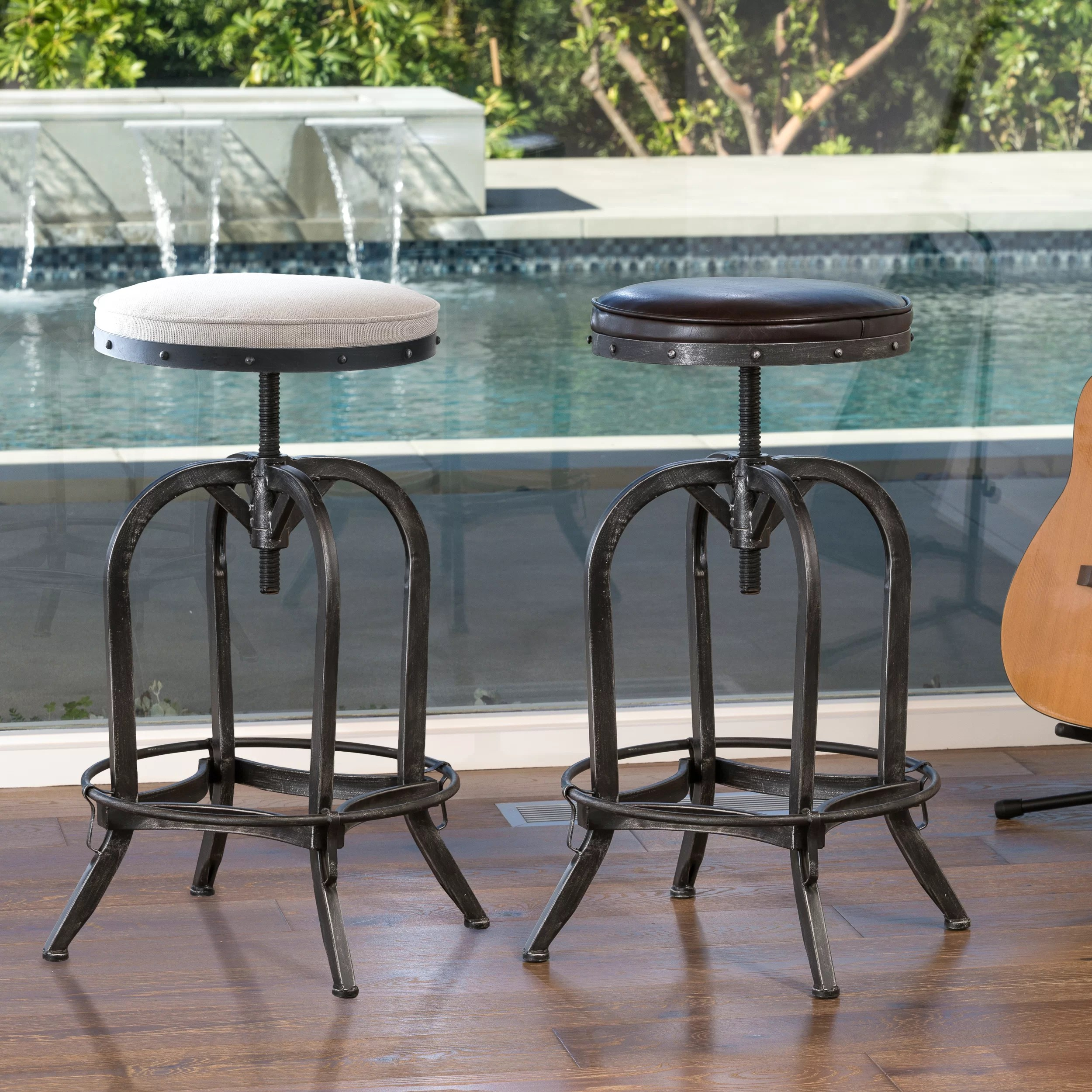 Home Loft Concept Home Loft Concepts Adjustable Height Swivel Bar Stool