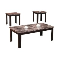 Andover Mills Cecil Marble Top 3 Piece Coffee Table Set ...