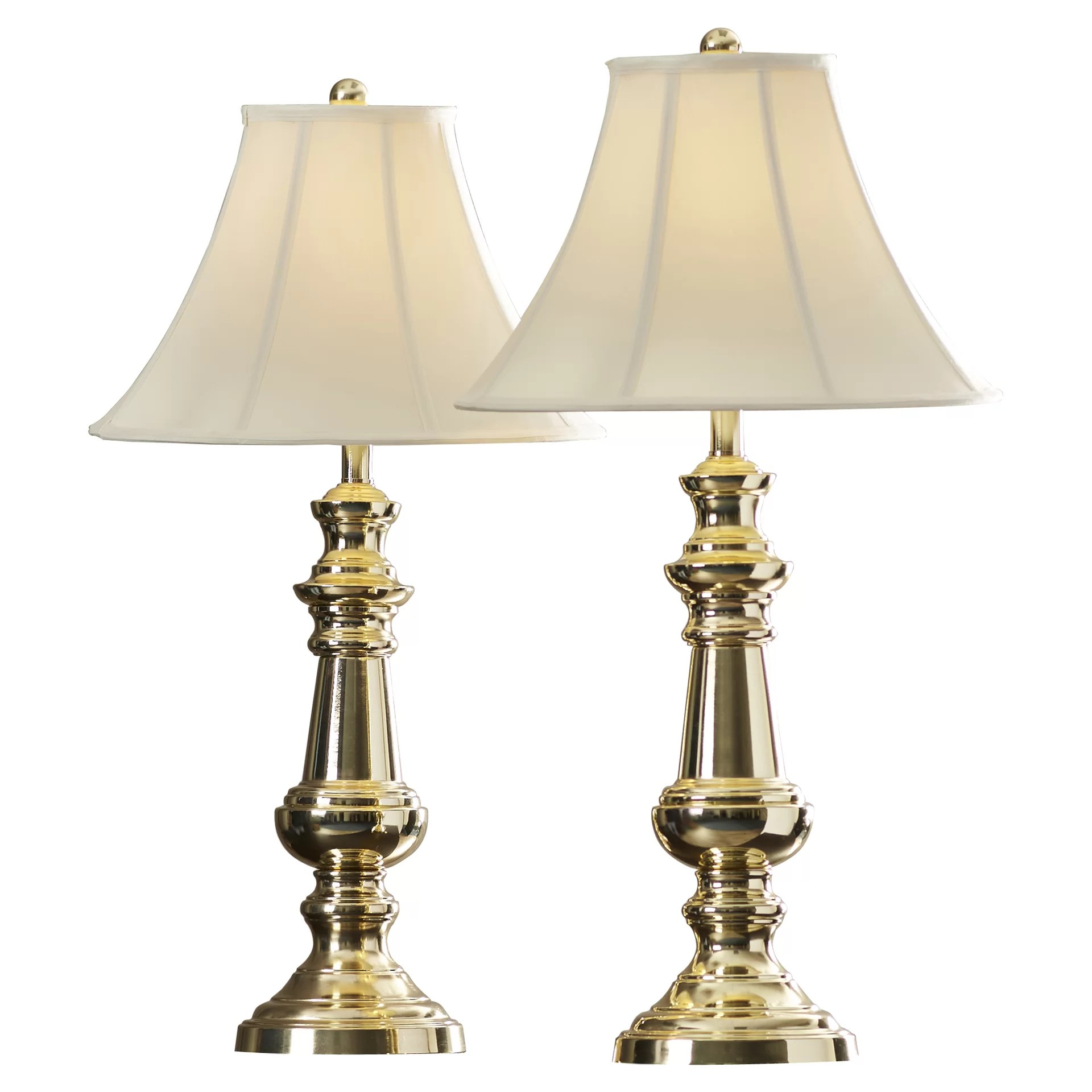 Brass Touch Lamps Bedside Andover Mills Rennie Polished Brass 32 Quot Table Lamp With