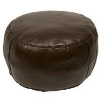 Casablanca Market Moroccan Leather Pouf Ottoman III ...