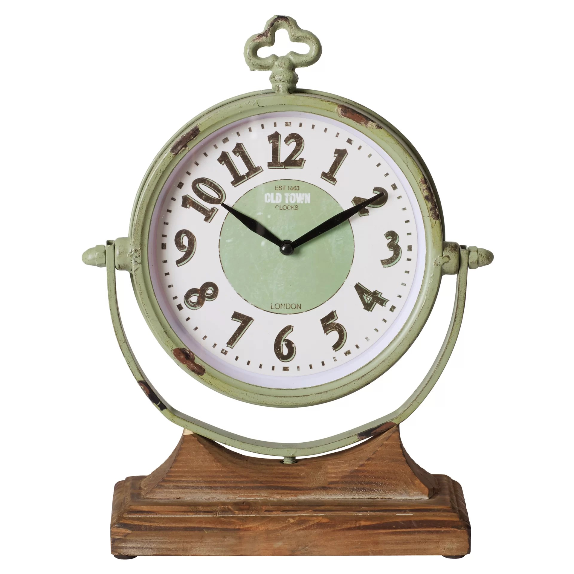Metal Table Clock Three Posts Sage Table Clock And Reviews Wayfair