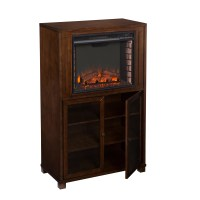 Three Posts Young Storage Tower Electric Fireplace | Wayfair