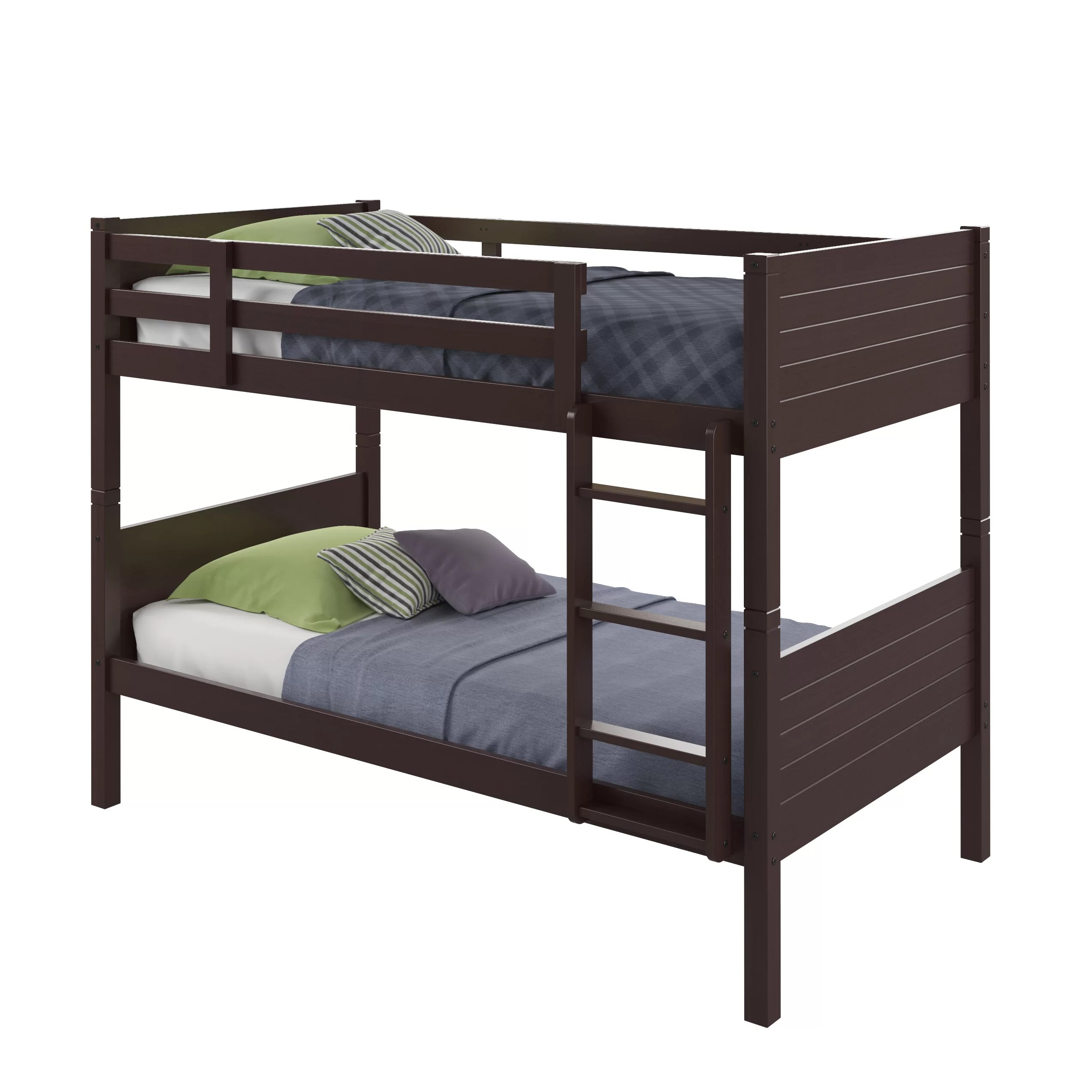 3 Twin Beds In The Space Of 1 Three Posts Tyre Twin Bunk Bed And Reviews Wayfair