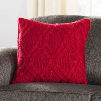 Three Posts Newmanstown Cable Knit Throw Pillow & Reviews ...