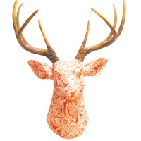 Near and Deer Faux Taxidermy Fabric Deer Head Wall Dcor ...