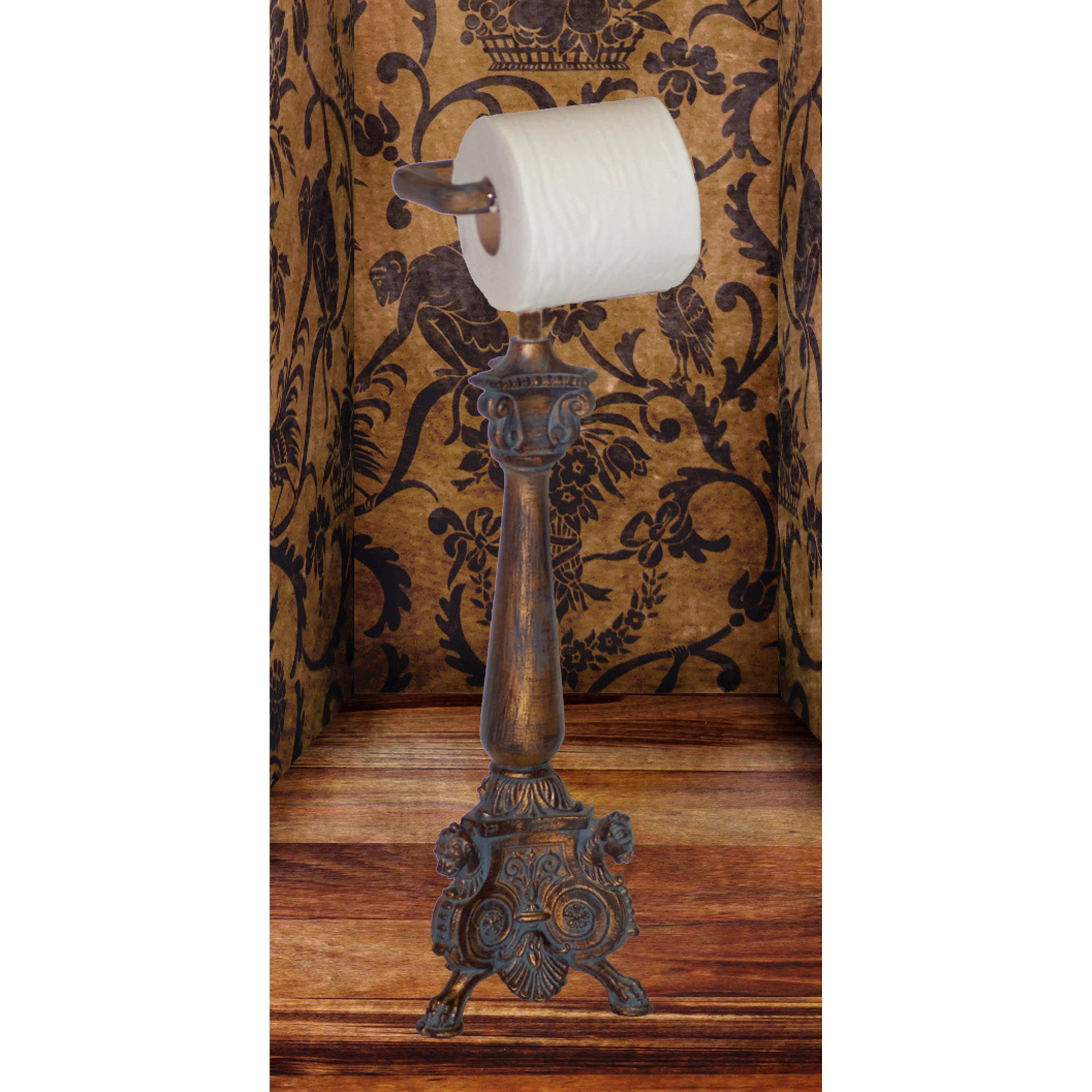 Free Standing Toilet Paper Holder Hickory Manor House Free Standing Royal Toilet Paper