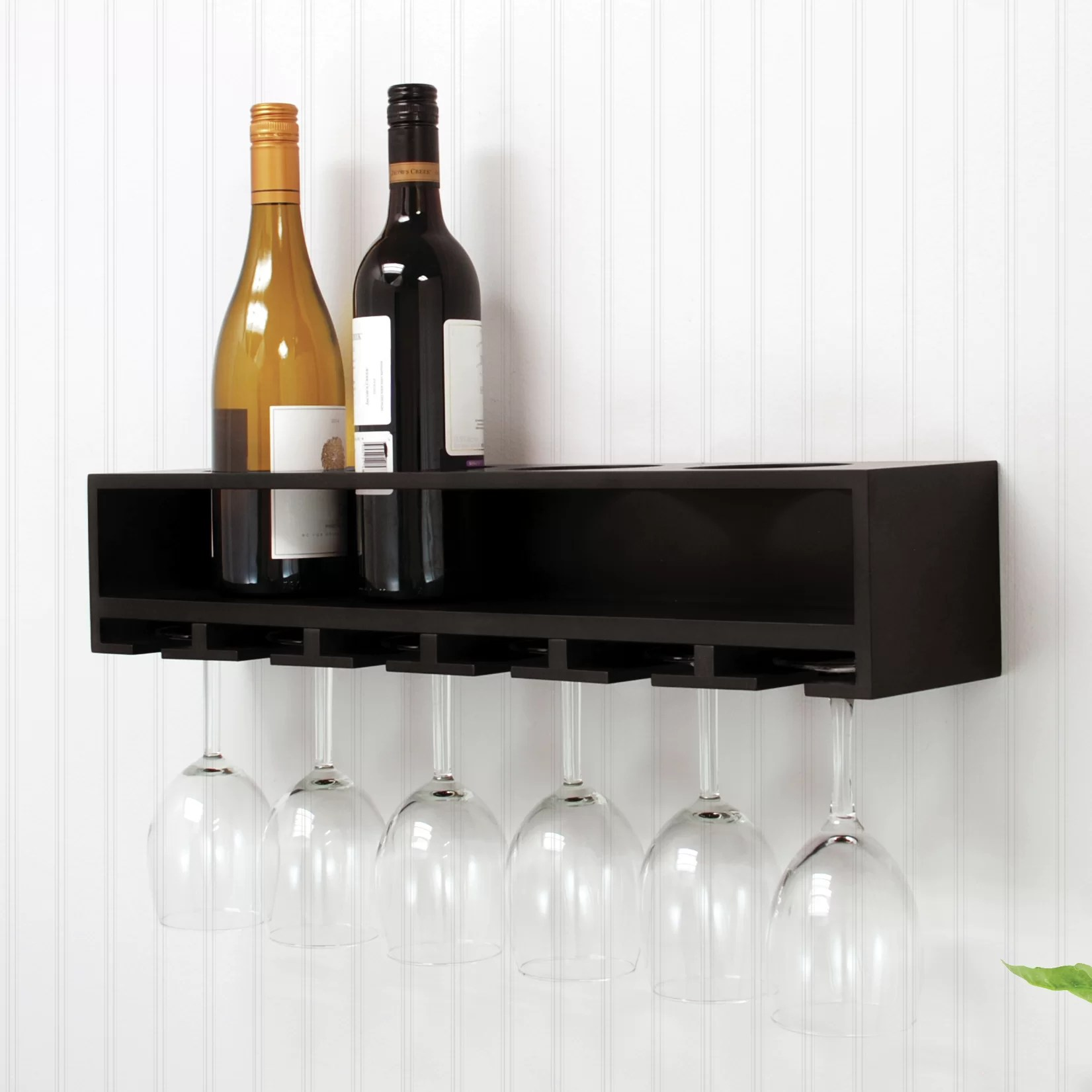 Hanging Bottle Rack Nexxt Design 4 Bottle Wall Mounted Wine Rack And Reviews