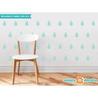 Sunny Decals Raindrop Fabric Wall Decal & Reviews | Wayfair