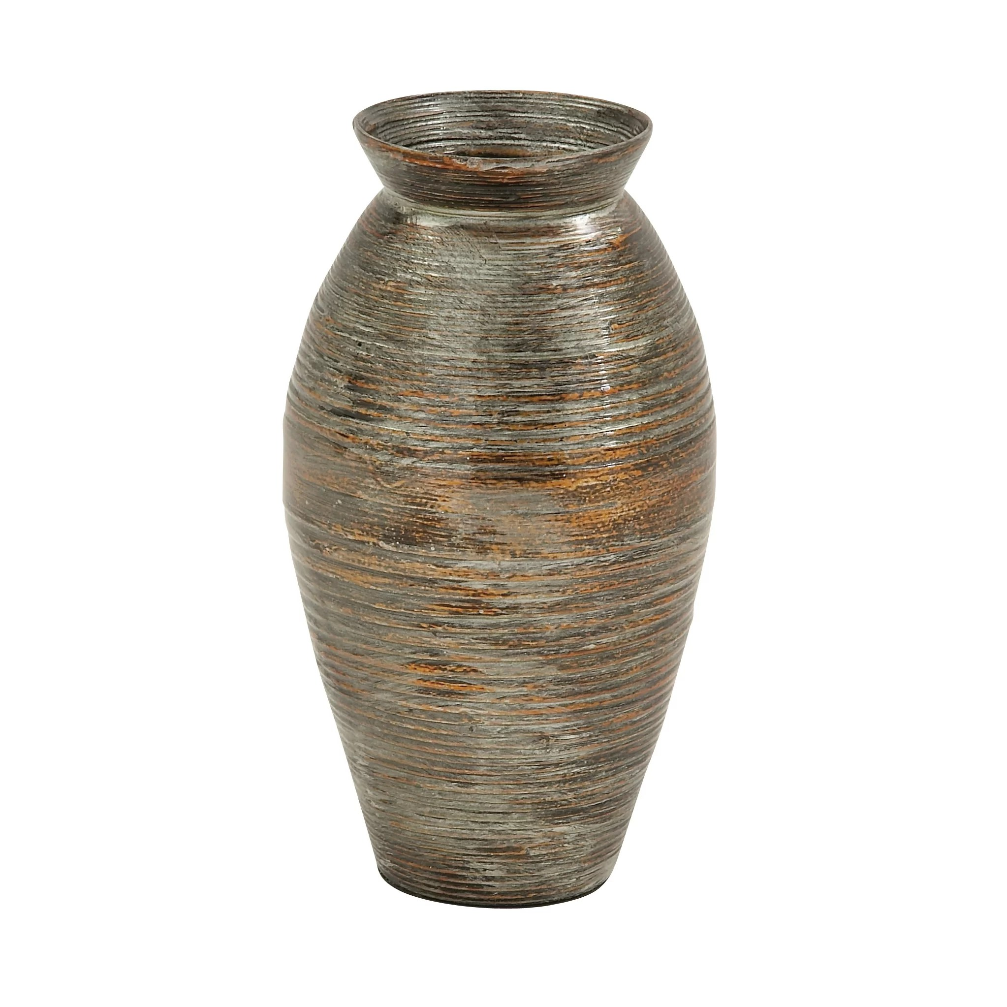 Bamboo Vase Decoration Cole And Grey Lacquer Bamboo Vase Wayfair
