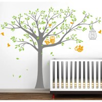 Pop Decors Nursery Tree with Cute Owls Wall Decal ...