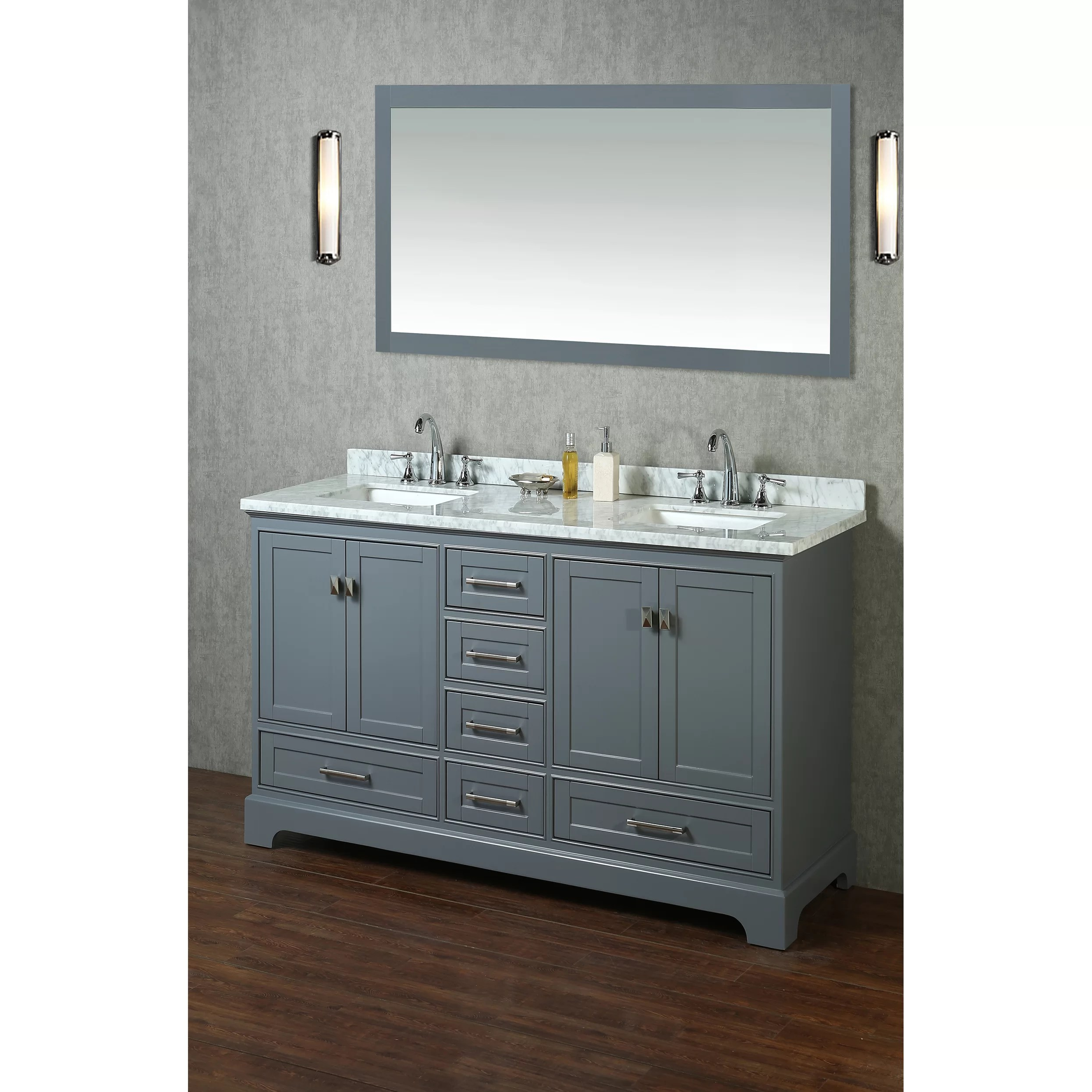 Mirrored Bathroom Vanity With Sink Dcor Design Barrington 60 Quot Double Sink Bathroom Vanity Set
