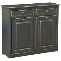 dCOR design Double Cabinet With Trash Bin | Wayfair