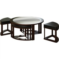 dCOR design Belgrove Coffee Table with 4 Stools & Reviews ...