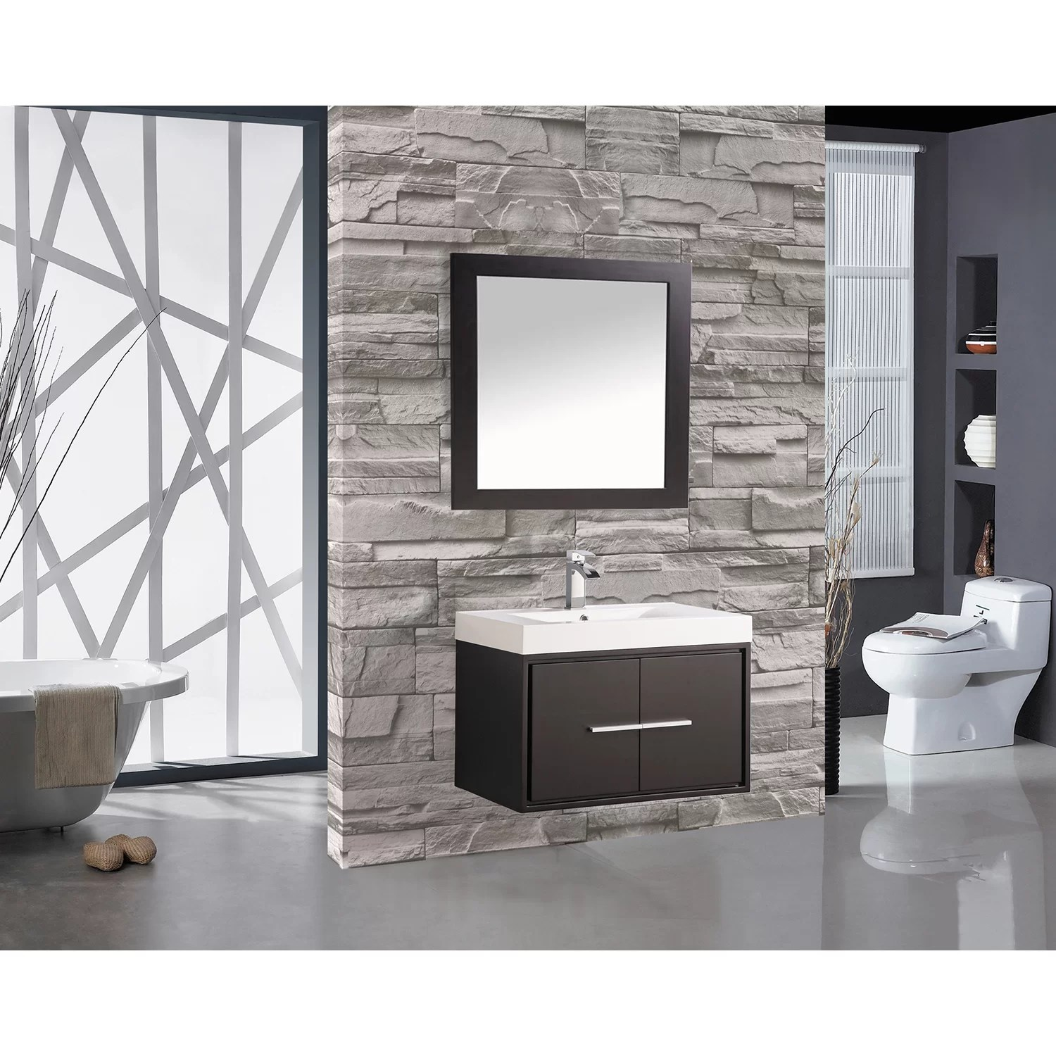 30 Floating Bathroom Vanity Mtdvanities Cypress 30 Quot Single Floating Bathroom Vanity