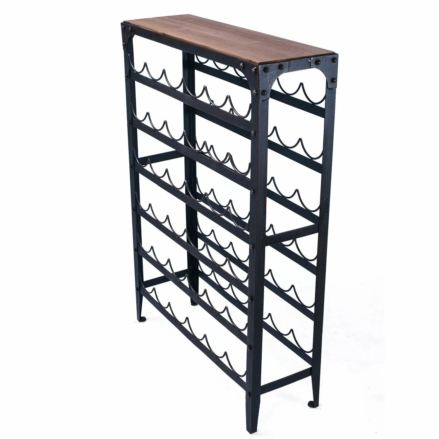 In Floor Wine Storage Adecotrading 36 Bottle Floor Wine Rack And Reviews Wayfair