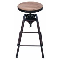 AdecoTrading Adjustable Height Swivel Bar Stool | Wayfair
