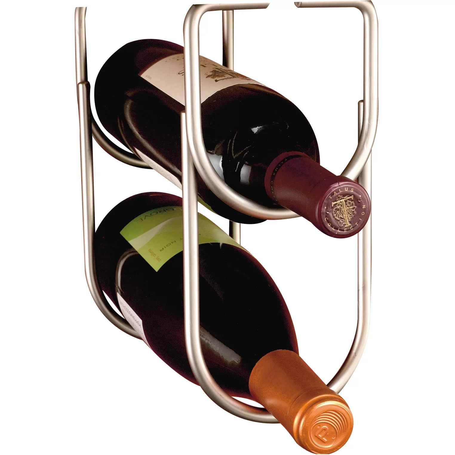 Hanging Bottle Rack Rev A Shelf 2 Bottle Hanging Wine Rack And Reviews Wayfair