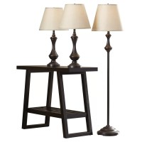 Darby Home Co McDermott 3 Piece Table and Floor Lamp Set