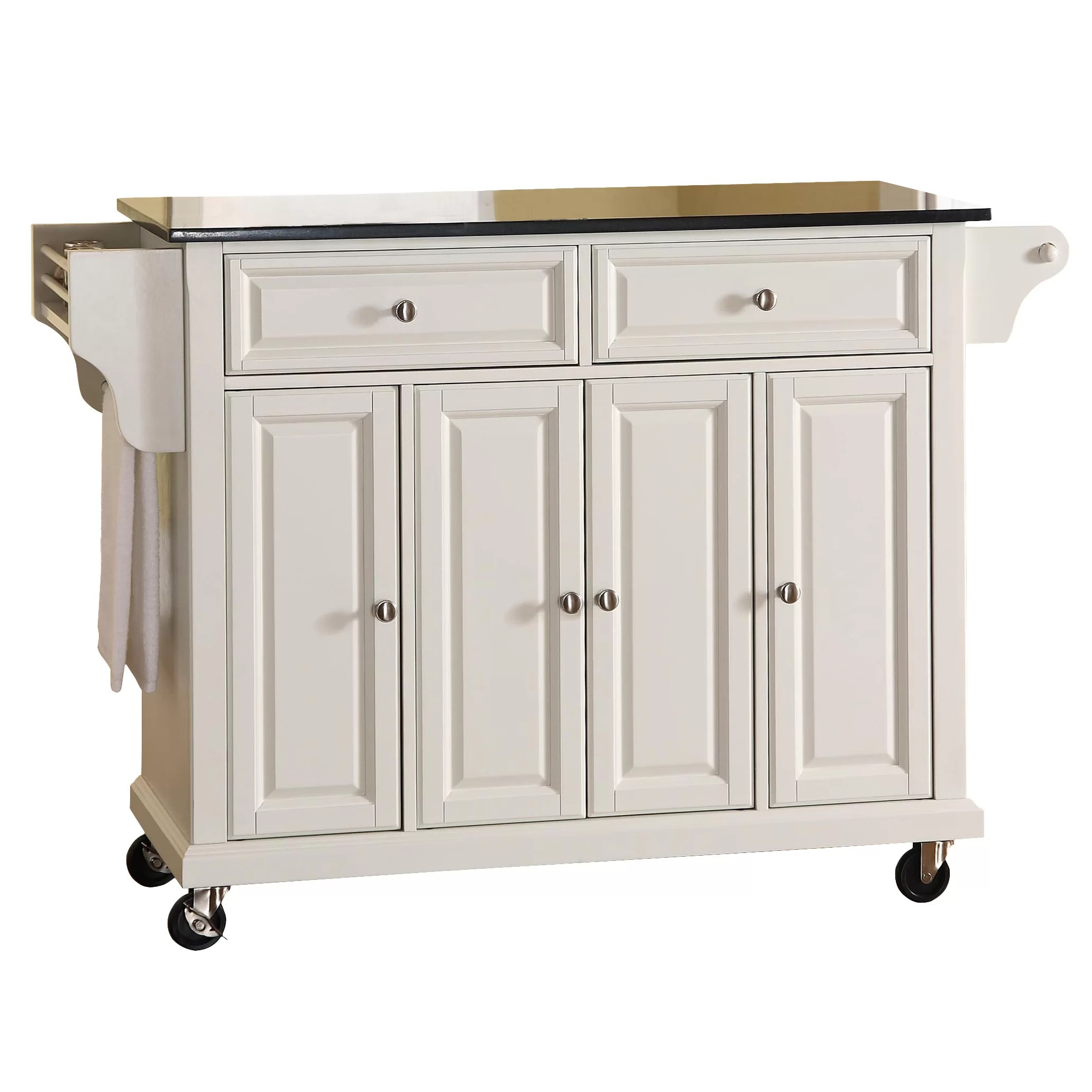 Granite Kitchen Islands Darby Home Co Pottstown Kitchen Island With Granite Top