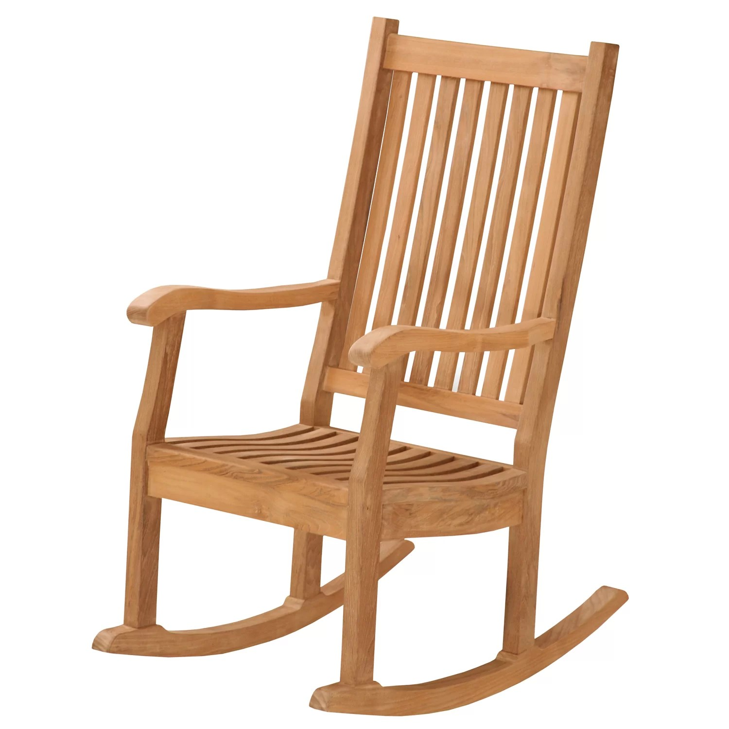 Rocking Chair Question Darby Home Co Lucy Teak Rocking Chair Wayfair