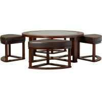 Darby Home Co Eastin 5 Piece Coffee Table & Stool Set ...